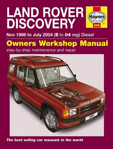 car repair manuals online free 1993 land rover range rover on board diagnostic system 1998 2004 land rover discovery diesel haynes repair manual