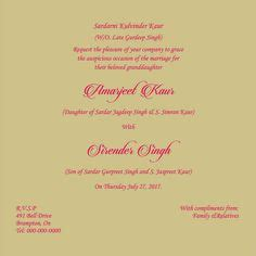 sikh wedding card template sikh wedding card wording marriage invitation wordings