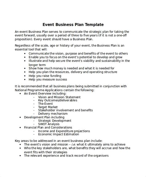 13 Business Plans Free Sle Exle Format Free Premium Templates Event Business Plan Template