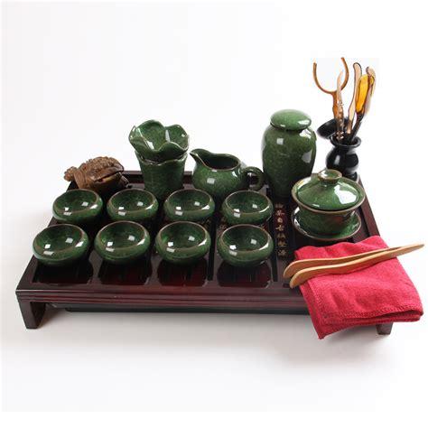 Sale Solid Wood Tea Tray Kungfu Tea calvings glaze ceramic kung fu tea set solid wood tea tray set tea caddy tureen set on