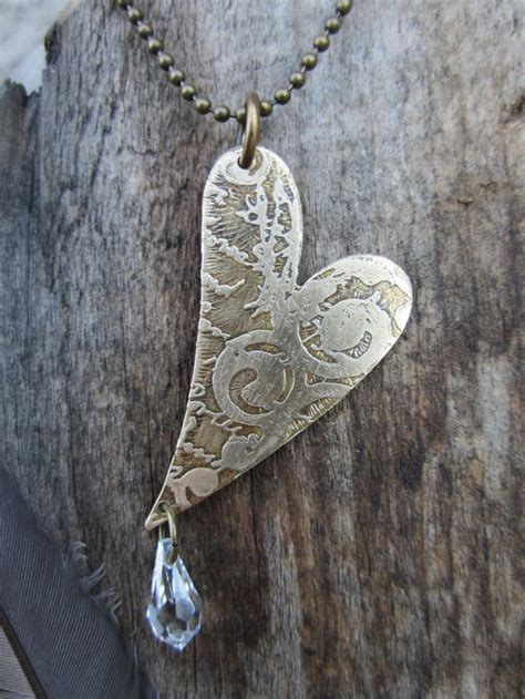 etched metal jewelry valentines day jewelry etched metal jewelry pendant