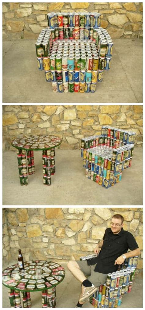 beer cans  furniture recyclart