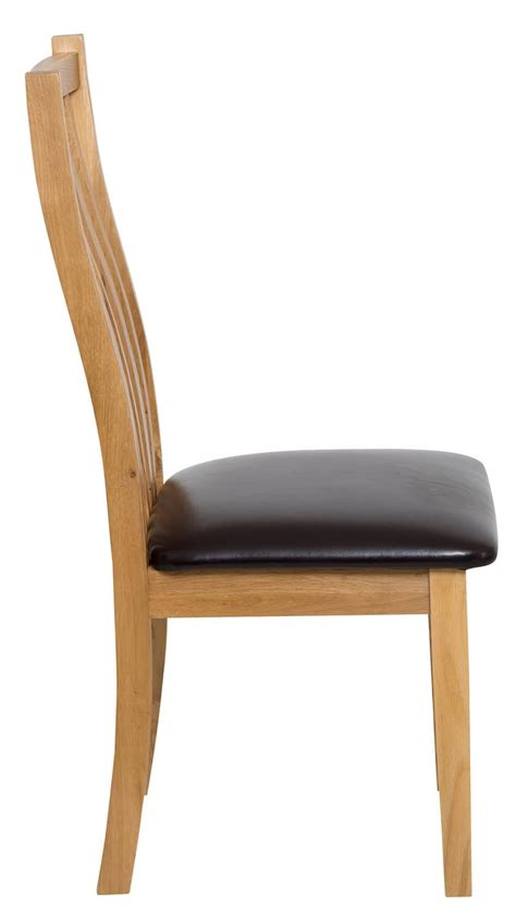 Dining Chair Seat Pad Oak Dining Chair With Brown Seat Pad Hallowood