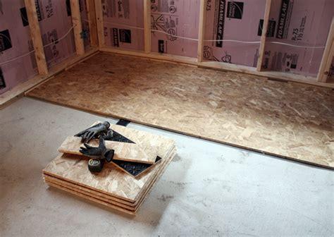 basement progress electrical subfloor chezerbey