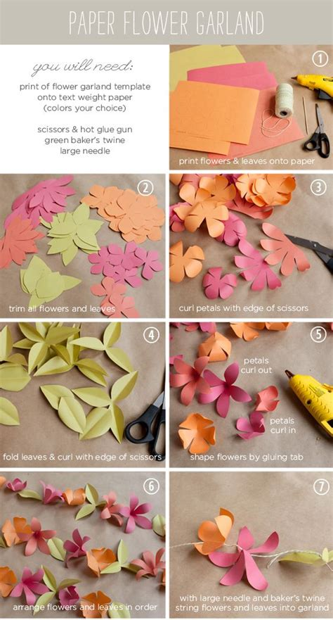 How To Make Paper Flower Garlands - how to make a paper flower garland tutorial with
