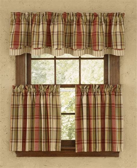 Heartfelt Lined Layered Valance   Pine Hill Collections