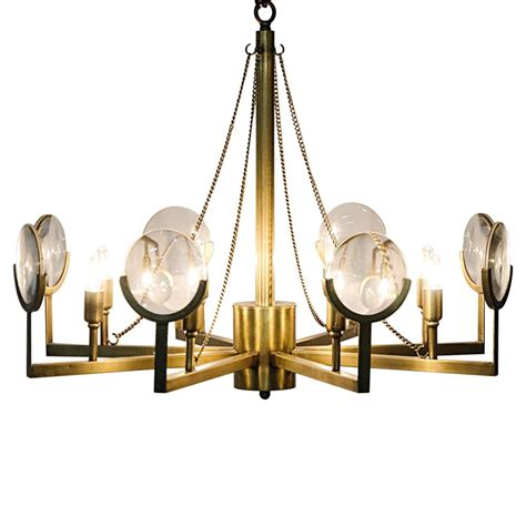 Chandelier Frame Abigale Modern Antique Brass Chandelier Frame Mirrored Pendant Kathy Kuo Home