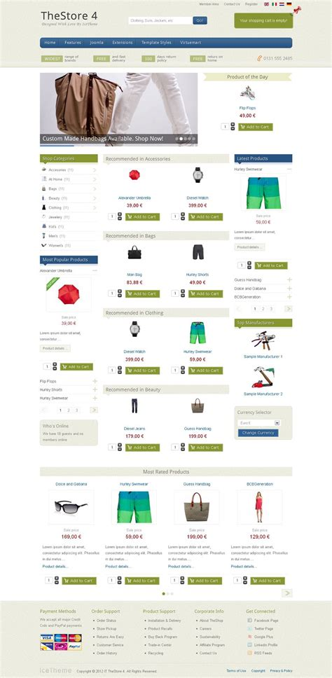it thestore 4 joomla ecommerce template for virtuemart