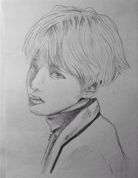 V Drawing Bts by Bts Drawings K Pop Amino