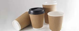 kraft cups double wall ripple coffee cups and lids cups hot cold beverage drinking cups