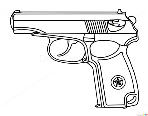 how to draw doodle guns how to draw makarov pistol guns and pistols how to draw