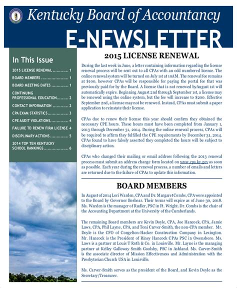 newsletter template 17 free word pdf documents