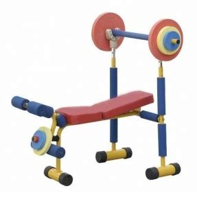 fun and fitness weight bench for kids toddler fitness equipment foter