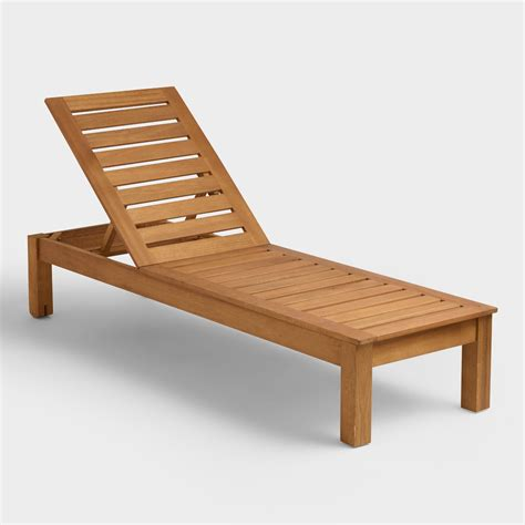 wooden chaise lounge chairs wood praiano chaise lounger world market