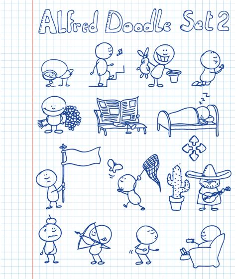 alfred doodle free vector alfred doodle set 2 vectorific