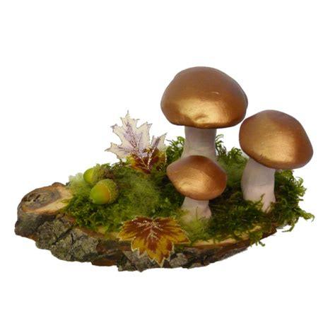dekoration herbst pilze basteln herbstdeko mit naturmaterialien und ein