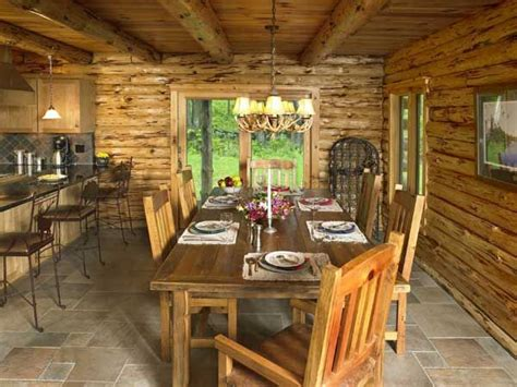 pennsylvania log home dining room home