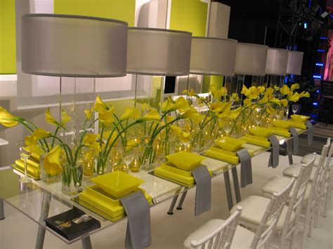 yellow decor what about a yellow and grey wedding weddings on the