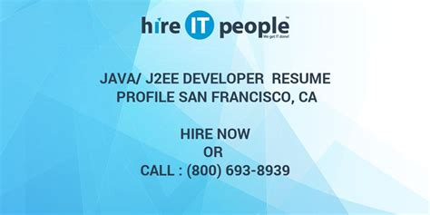 Resume Ca Java Server Framework by Java J2ee Developer Resume Profile San Francisco Ca