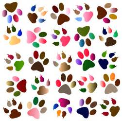 free painting no clipart paw print dothuytinh