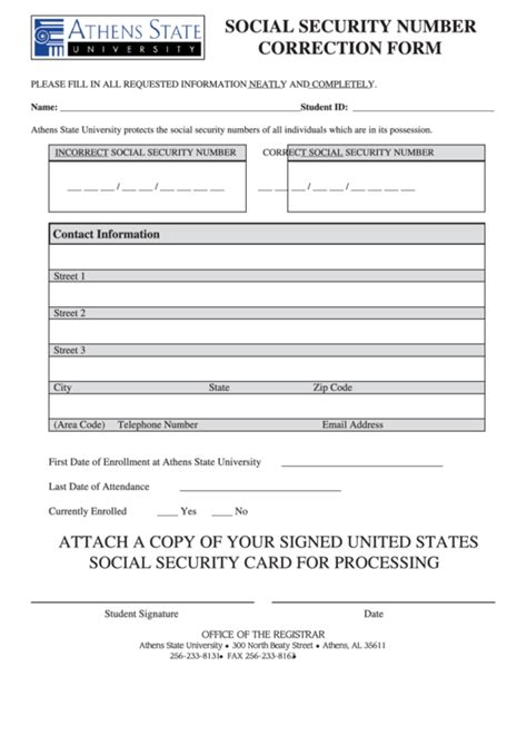 social security card fill in template fillable ssn correction form printable pdf