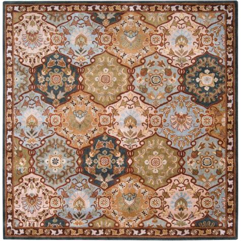Square Wool Area Rugs Artistic Weavers Camarillo Blue Wool Square 8 Ft Area Rug The Home Depot Canada