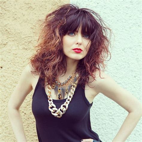 Medium Wavy Hairstyles With Bangs by 40 Styles Featuring Curly Hair With Bangs