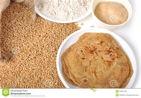 1 chapati carbohydrates wheat chapati flour stock image image of isolated