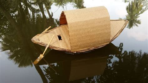 how to make a boat for school project how to make a boat with cardboard youtube