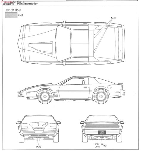 knight rider kitt free coloring pages