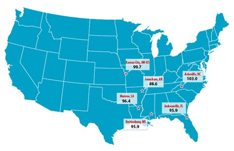 us cost of living index map cost of living jonesboro chamber of commerce
