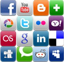 Social media icons pa times online