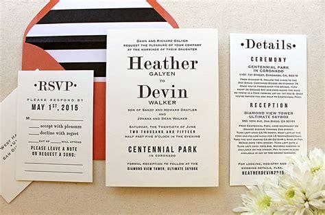 Hazel ? Serif Font Letterpress Wedding Invitation