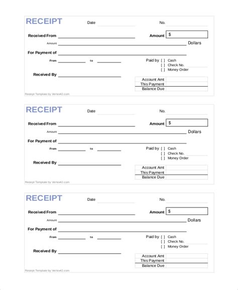 Official Receipt Template by Official Receipt Template 6 Free Word Pdf Document