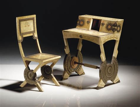 bureau bugatti carlo bugatti 1855 1940 bureau de dame et sa chaise