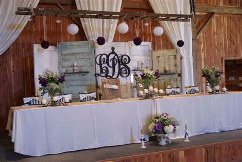 rustic ideas   old doors used as wedding backdrop also