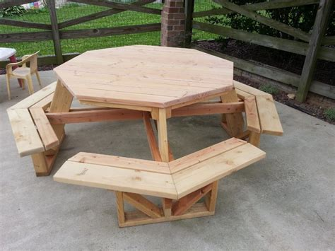 Octagon Patio Table Plans Image Gallery Octagon Picnic Table