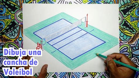 imagenes de voleibol para dibujar faciles c 243 mo dibujar una cancha de voleibol youtube