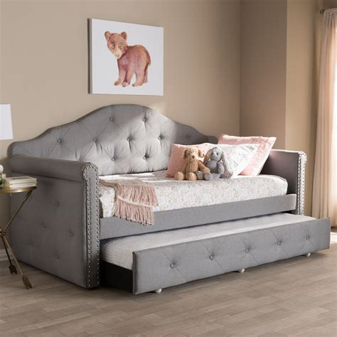 baxton studio emilie modern  contemporary grey fabric