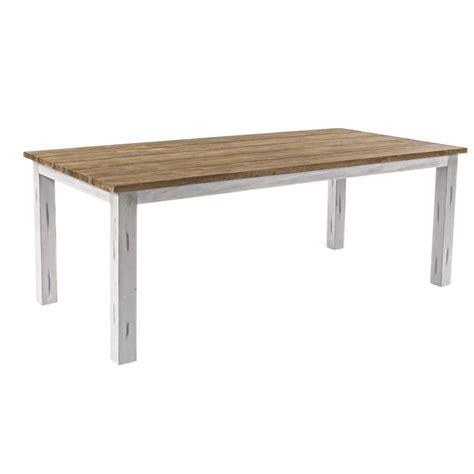tavolo bianco legno tavolo legno teak bianco shabby chic 200x100h76 bz0804370