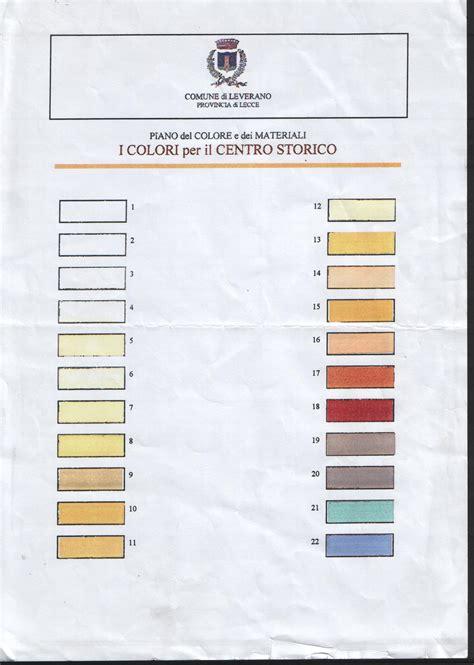 passoscuro approvato piano colore per comune di leverano piano colore e dei materiali per