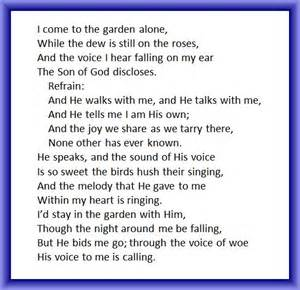 in the garden lyrics grace notes southern styling on a