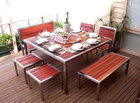 Stainless Steel Patio Furniture 17 Best Images About Garden Table Seating Stainless On Pinterest Armchairs Teak And