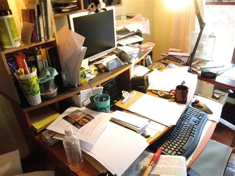 Cluttered Desk by Snapshot Science Buzz