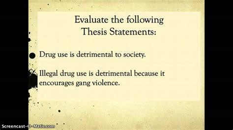 topic vs thesis topic sentences vs thesis statements