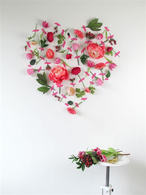 how to decorate home with flowers valentine s day flower wall art