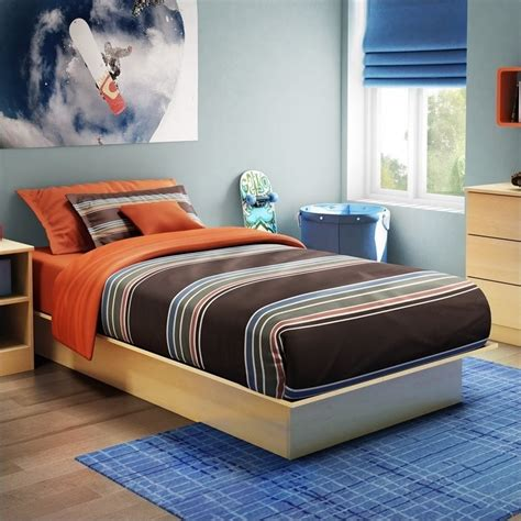 south shore twin platform bed south shore libra kids twin platform bed in natural maple 3113235c