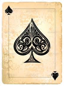 Ace Of Spades Card Template by Ace Of Spades And Cards
