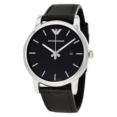 Emporio Armani emporio armani classic black black leather