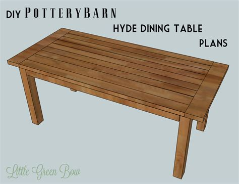dining room table building plans diy pottery barn dining table plans